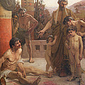 A Spartan Points Out A Drunken Slave To His Sons by Fernand Sabbate