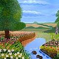 A Spring Stream by Magdalena Frohnsdorff