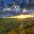 A Spring Sunset On Beauty Mountain In West Virginia. by Michael Bowen