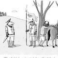A Squire Looks At A Knight Whose Triangular Face by Zachary Kanin