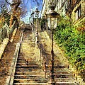 A Stairway In Montmartre by Dragica  Micki Fortuna