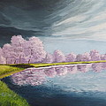 A Storm Over Cherry Trees by Wanda Dansereau
