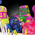 A Street Vendor's Mardi Gras In Plastic Wrap by Marian Bell