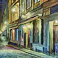 A Street With The Local Inn by Dragica  Micki Fortuna