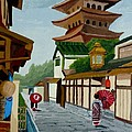 A Stroll In Old Kyoto by Anthony Dunphy