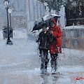 A Stroll In The Rain by Laura Lee Zanghetti