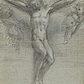 A Study Of Christ On The Cross With Two by Federico Fiori Barocci or Baroccio