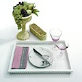 A Summer Table Setting On A Tray by Haanel Cassidy