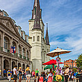 A Sunny Afternoon In Jackson Square Oil by Steve Harrington