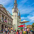A Sunny Afternoon In Jackson Square by Steve Harrington