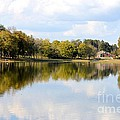A Sunny Day's Reflections At The Lake House by Maria Urso