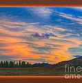 A Surprise Sunset Visit Landscape Painting by Omaste Witkowski