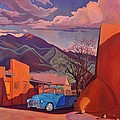A Teal Truck In Taos by Art James West