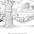 A Therapist Sits On A Swing Behind And Addresses by Benjamin Schwartz