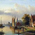 A Town By The River by Jacob Jan Coenraad Spohler