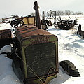 A Tractor In The Snow by Jeff Swan