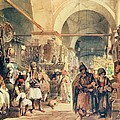 A Turkish Bazaar by Amadeo Preziosi