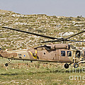 A Uh-60l Yanshuf Helicopter by Ofer Zidon