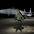 A U.s. Air Force Pilot Stands In Front by Terry Moore