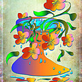 A Vase Of Flowers by Angela Stanton