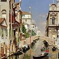 A Venetian Canal  by Rubens Santoro