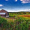 A Verdant Land Impasto Version by Steve Harrington