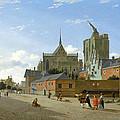 A View In Cologne by Jan van der Heyden