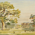 A View Of Chirk Castle, 1916 by Philip Wilson Steer