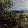 A View Of Het Steen In The Early Morning by Peter Paul Rubens
