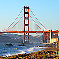 A View Of The Golden Gate Bridge From Baker's Beach  by Jim Fitzpatrick