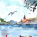 A View Of The Historical Peninsula From Uskudar - Istanbul by Faruk Koksal