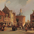 A View Of The Zuiderspui by Oene Romkes de Jongh