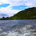 A View Of Urquhart Castle by Joan-Violet Stretch