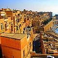 A View Of Valletta's Waterfront by Laurel Talabere