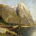 A Village By A Fjord by Askevold Andres Monsen
