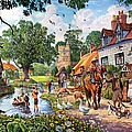 A Village In Summer by Steve Crisp