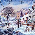 A Village In Winter by Steve Crisp