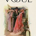A Vintage Vogue Magazine Cover Of A Woman By Stuart Travis