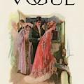 A Vintage Vogue Magazine Cover Of A Woman By Stuart Travis