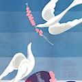 A Vintage Vogue Magazine Cover Of A Dove by Eduardo Garcia Benito