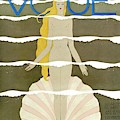 A Vintage Vogue Magazine Cover Of A Naked Woman by Georges Lepape
