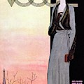A Vintage Vogue Magazine Cover Of A Wealthy Woman by Georges Lepape
