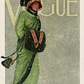A Vintage Vogue Magazine Cover By Artist Unknown