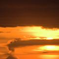 A Vocano Erupts In Kachemak Bay by Scott Dickerson