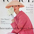 A Vogue Cover Of Evelyn Tripp Wearing Pink by Karen Radkai