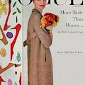 A Vogue Cover Of Sunny Harnett With Flowers by Karen Radkai