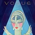 A Vogue Magazine Cover Of A Wealthy Woman by Eduardo Garcia Benito