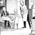 A Waiter Offers Pepper To Two Patrons. His Pepper by Matthew Diffee