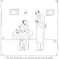 A Waiter Talks To A Restaurant Patron by Liana Finck