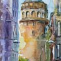 A Walk Around Galata Tower - Istanbul by Faruk Koksal